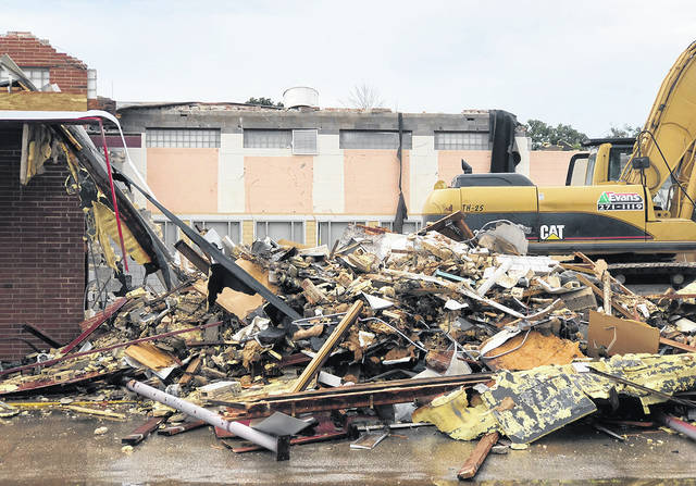 Demolition of the Murlin Heights Elementary School building on N. Dixie Drive in Butler Township has begun.