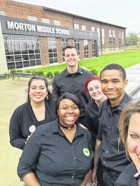 Staff from the Olive Garden on Miller Lane served pasta, salad, and breadsticks to the sixth grade students at Morton Middle School after this spring's Pennies for Pasta fundraiser.