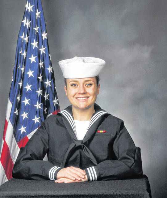 Seaman Recruit Darlene Reinhard, a Vandalia, Ohio native, recently graduated as the top Sailor from Recruit Training Command, Division 155, earning the Military Excellence Award.