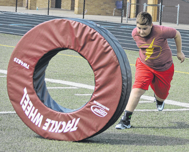 Photos from the Josh Betts Butler Aviator football camp for students in grades K-8 held at Memorial Stadium.