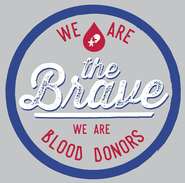 """Everyone who registers to donate blood at the Vandalia United Methodist Church blood on July 30 will receive the """"We are the Brave"""" t-shirt."""