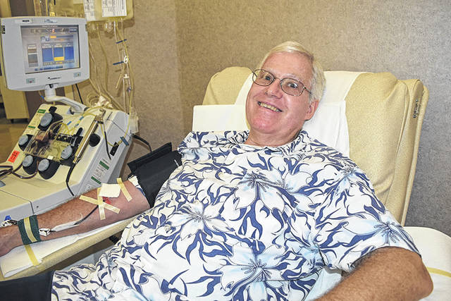 Vandalia resident Bob Miller recently completed his 200th lifetime donation at the Community Blood Center in Dayton.