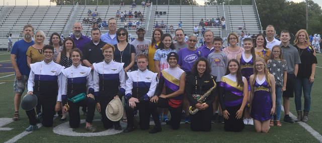 The Butler Marching Band and Color Guard honored seniors before Friday's game versus Xenia.