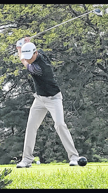 Butler's Austin Greaser, pictured in file photo from last season, shot a 69 in the first round of the Greater Western Ohio Conference tournament on Thursday at Beechwood to claim the top overall qualifying spot. The second day of competition is scheduled for Saturday.