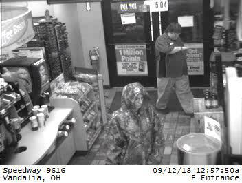 The Vandalia Division of Police is seeking the public's assistance in identifying a suspect who robbed the Speedway on E. National Road.