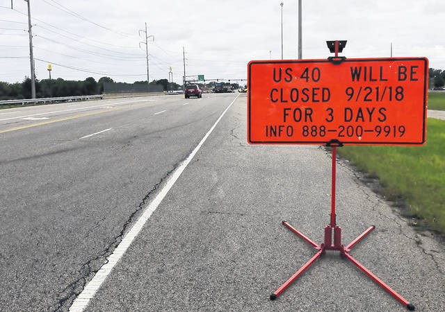 The Ohio Department of Transportation (ODOT) will be closing the overpass to all through traffic for three days beginning Friday, September 21, at 8 p.m. The overpass will reopen Monday, September 24, at 5 a.m.
