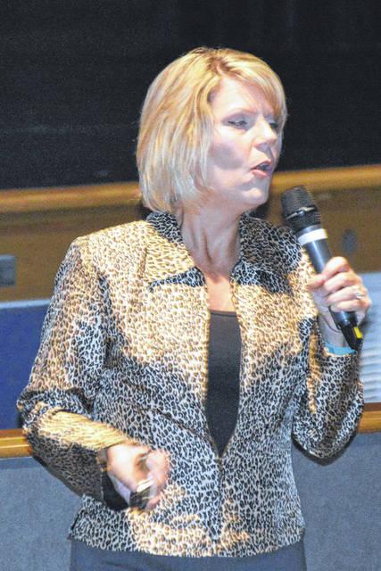 Tonya Folks, the Human Trafficking Liaison for the Montgomery County Sheriff's Office, spoke about human trafficking at Butler High School last week.