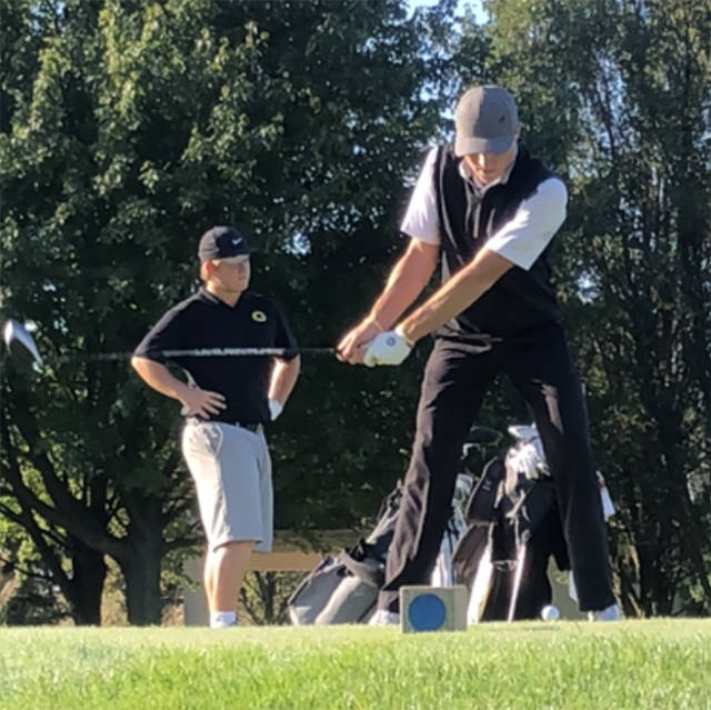 Butler's Austin Greaser shot a 66 to earn co-medalist honors at the Centerville sectional tournament on Monday. Butler placed second overall.