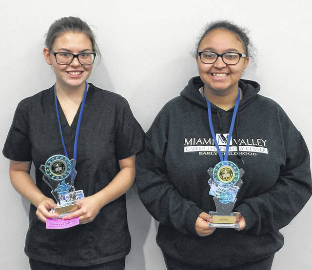 MVCTC October Health and Consumer Science Students of the month are Jacquelyn Dickey - Cosmetology - (Brookville High School) and Taylor Roberts- Early Childhood - (Vandalia Butler High School). Both students are recognized for academic achievement, attitude, leadership skills, and attendance.