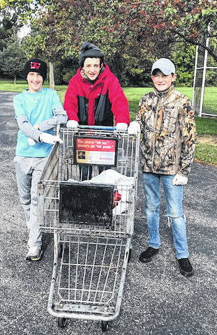 Members of the Morton Youth Service Club gathered at Robinette Park last weekend to clean up trash at the park. The club has 68 members.