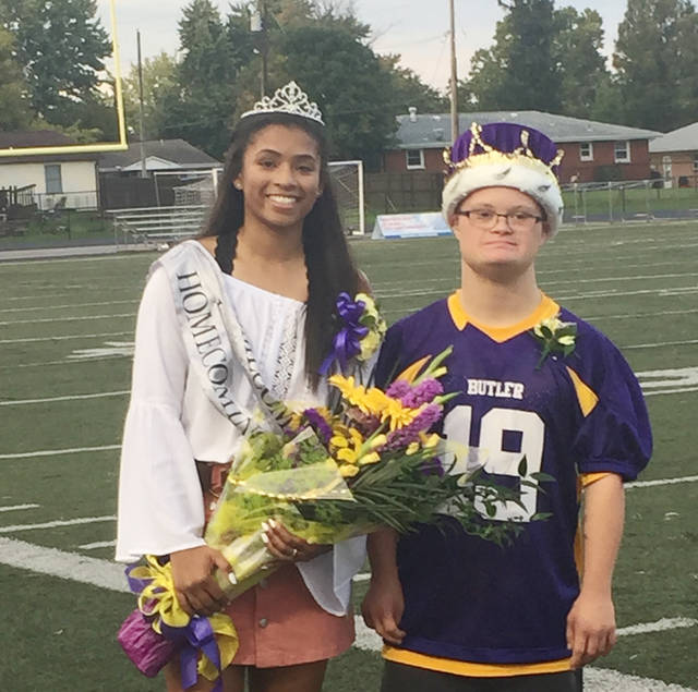 Tyree Fletcher was named Butler's 2018 Homecoming Queen and Andy Thomas was named the 2018 Powder Puff Queen prior to the Aviators' game versus Troy on Friday, Oct. 5.