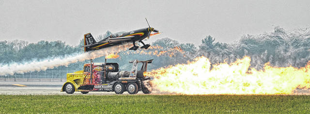 The Shockwave Jet Truck, pictured here during the 2014 Vectren Dayton Air Show, will return to next year's Air Show lineup along with four other acts announced by organizers this week.
