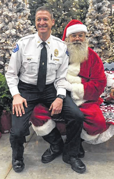 It looks like Santa was having a tough time deciding if Vandalia Police Chief Kurt Althouse has been naughty or nice this year during the annual Christmas with Cops.