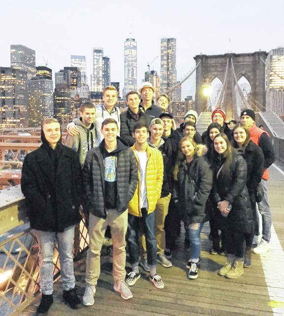 Business students at Butler High School traveled to New York City the week of Thanksgiving. The students visited the New York Stock Exchange, Goldman Sachs Investment Bank, New York University, St. Patrick's Cathedral, Chinatown, the Brooklyn Bridge, Rockefeller Center, Times Square, the World Trade Center, and the 9/11 Memorial.