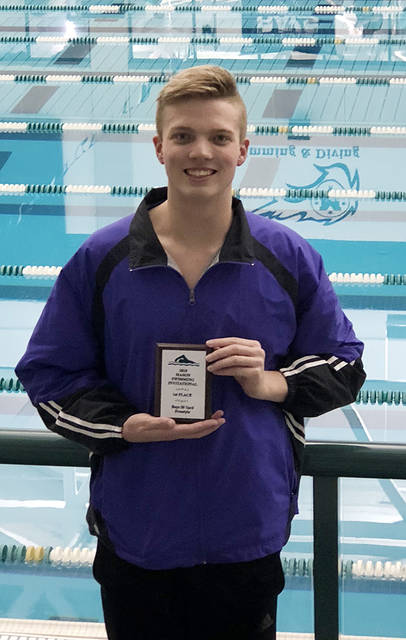 Butler swimmer Matt Brunsky placed first in the 50 free at the Mason Invitational on Saturday.