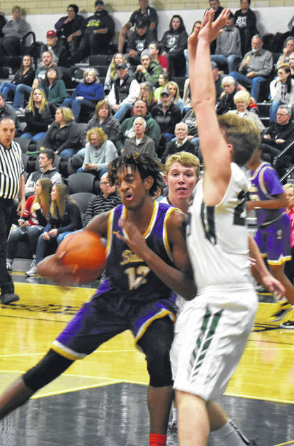 Bryant Johnson makes a move to the basket during Butler's win over the Green Wave on Friday evening.