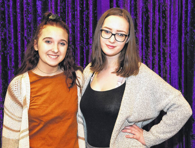 Vandalia residents Ava Linder (left) and Diana Galbraith will perform in the Muse machine's production of <em>Momma Mia!</em> January 10-13 in the Victoria Theatre.