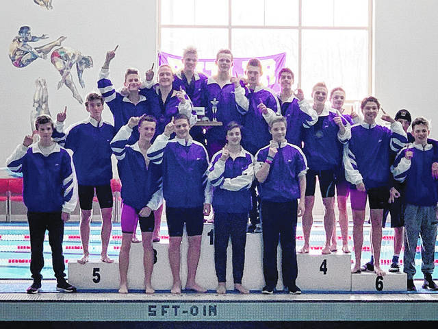 The Butler Aviator swimming team won its 15th straight Greater Western Ohio Conference North division title last weekend at Trotwood-Madison High School.