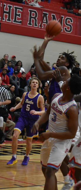 Butler's Bryant Johnson goes in for a shot during the Aviators' 60-56 win over Belmont on Saturday.