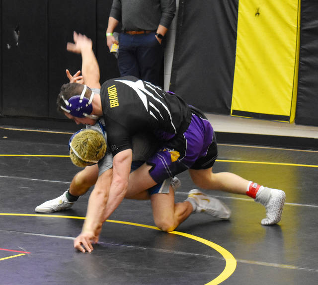 Michael Brandt wrestled at 145 pounds at the OHSAA Sectional Tournament at Centerville.