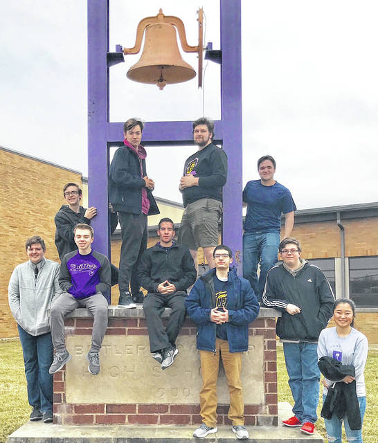 Our Butler Academic Challenge Team won the GWOC postseason tournament and qualified for regionals. Congratulations to all of our team members and Coach Dearth. Pictured front row, left to right, Cade McDonald, Ben French, Kyle Seelbaugh, Antonio Fiori, Brad Seaver, Allison Boyd; back row, left to right, Jackson McClain, Alex Dixon (captain), Will Long, and Dominic Fiori. Not pictured is Advisor Erin Dearth.
