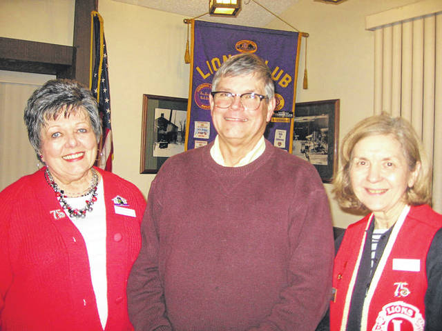 Pictured left to right are Lion President Sharon Rose, Vandalia Sister Cities President Dave Starline, and Lion Program Chair Dee Smith.