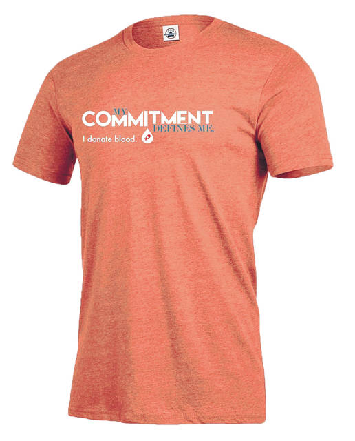 <strong>The Community Blood Center 'My Commitment Defines Me – I Donate Blood' T-shirt.</strong>