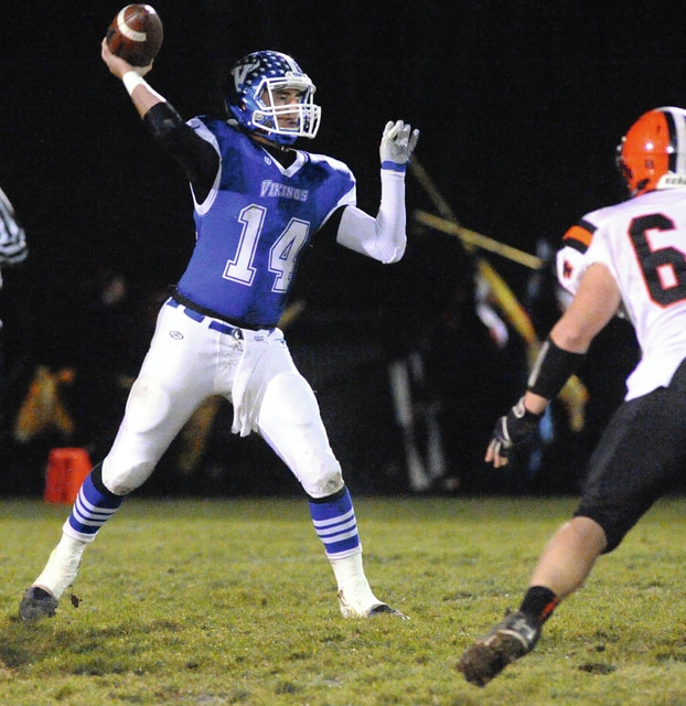 Mike Ullery | Civitas Media Miami East quarterback Conner Hellyer fires off a pass last season.