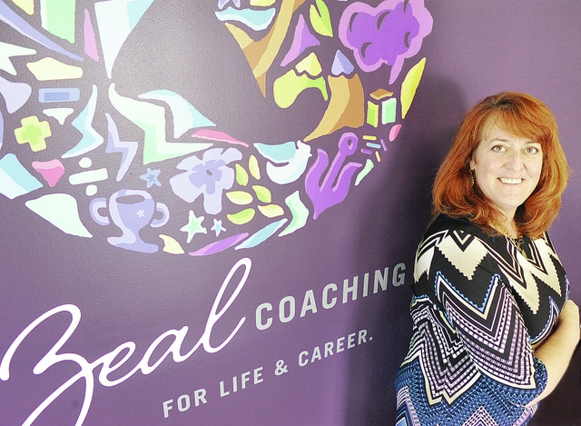 Anthony Weber | Troy Daily News Christy Shell stands in her Zeal Coaching studio Friday located at 3 East Water Street in Troy.