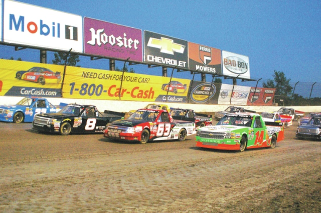 Kyle Shaner|Civitas Media Drivers start the Mud Summer Classic by going four-wide on Wednesday night at Eldora Speedway.