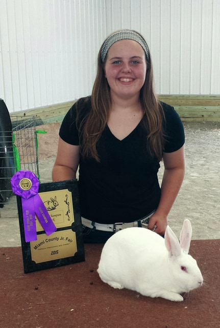 Kacie Tackett, 14, of Pleasant Hill, and the Newton Blue Ribbon 4-H Club, won Grand Champion Six Class Buck. She is the daughter of Jane Jess and Charles Tackett.