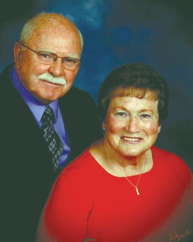 Couple celebrating 60 years Don and Jean Rutledge