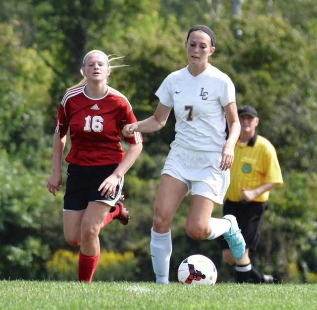 Photo Provided Kaitrin O'Leary scored two goals for Lehman against Newton Saturday.