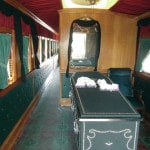 Funeral car, locomotive highly accurate to original
