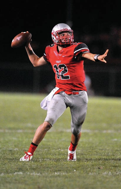 Photo Courtresy of Lee Woolery/Speedhsot Photo It's still early in the season, but Troy quarterback Hayden Kotwica is putting up passing yards at an historic rate so far this year.