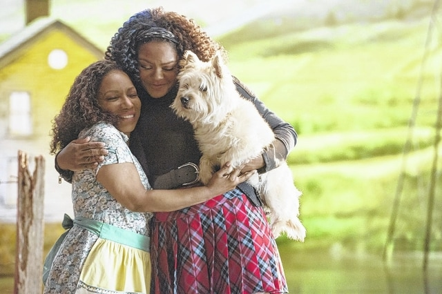"""Provided photo In this image released by NBC, Stephanie Mills portrays Auntie Em, left, and Shanice Williams portrays Dorothy in """"The Wiz Live!"""" premiering on Dec. 3 at 8 p.m. ET on NBC. Williams, a 19-year-old New Jersey native chosen from hundreds of hopefuls, had already appeared in her middle-school production of """"The Wiz."""""""
