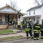 Fire displaces family