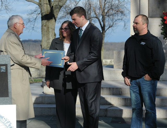 Mike Ullery | Civitas Media Troy resident Blaine Johnson was awarded the Cary Gum Scholarship from the National Aviation Heritage Area board of trustees on Dec. 17.