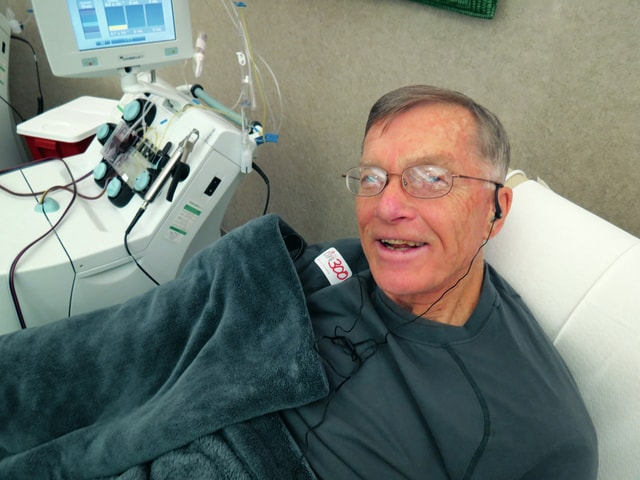 provided photo Troy resident Al Mescher celebrated his 300th lifetime blood donation Jan. 28 at the Dayton Community Blood Center.