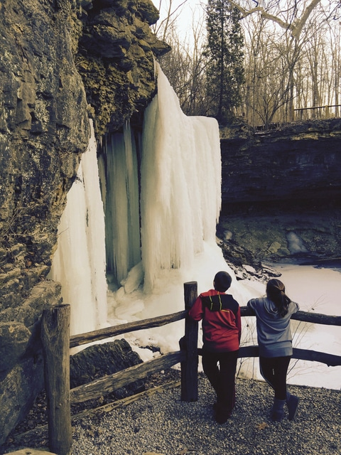 "Provided photo The photo ""Frozen Falls"" was submitted by Cassie Smith and taken at Charleston Falls Preserve. Smith is the February winner of the year-long ""Capture Moments … Inspired by Nature"" photo contest being sponsored by the Miami County Park District,<em> Troy Daily News</em> and <em>Piqua Daily Call</em>. For details on the contest, visit miamicountyparks.com/pages/photocontest.htm"