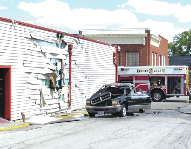 Fire, police and EMT units were on the scene of a truck fire at Skipper's Tavern, 101 North Miami Street, in West Milton early Saturday afternoon. A pickup truck along West North Street caught fire, damaging the vehicle and part of the building.