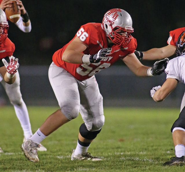 Photo Courtesy of Lee Woolery   Speedshot Photo Troy offensive lineman Travis Hall was named Division II second-team All-Ohio.