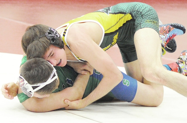 Anthony Weber/Troy Daily News Troy Christian's Jacob Edwards won an individual title Saturday at the Red Devil Invitational.