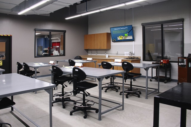 Provided photo A classroom in the Hobart Institute of Welding Technology's new Next Generation Welder Learning Facility on its Troy campus.