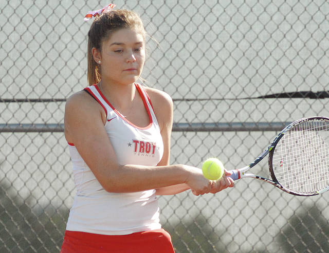 Troy's Hannah Essick recently signed her national letter of intent to play tennis at the University of Findlay.