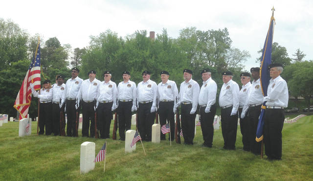 Submitted photos Honor Squad performs military honors during a funeral at the Dayton National Cemetery.
