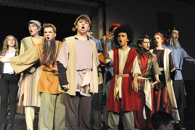 "Anthony Weber | Troy Daily News Bethel High School will present ""Joseph and the Amazing Technicolor Dreamcoat"" by Andrew Lloyd Webber. The show will open tonight, then Friday both at 7 p.m., Saturday at 2 p.m. and 7 p.m."