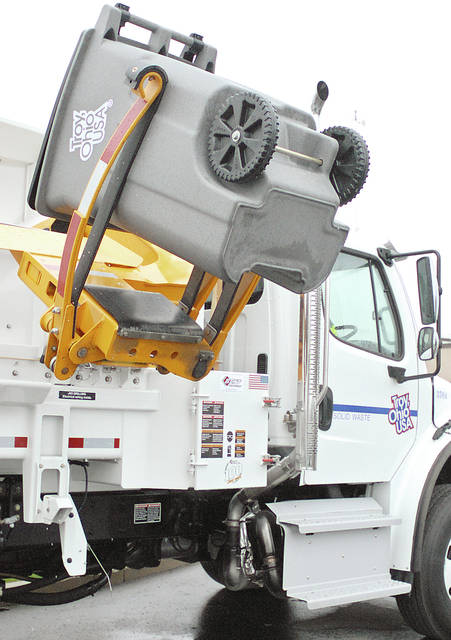 Anthony Weber | Troy Daily News The city of Troy will be automating garbage collection beginning May 1 which will allow collection to be cost effective and efficient.