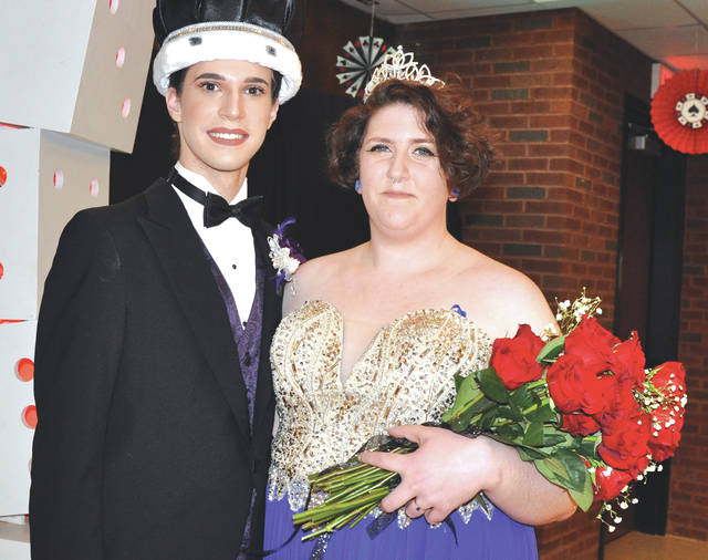 Provided photo Drew Alt of Russia and Hayley Eversman of Piqua were crowned king and queen at Upper Valley Career Center's annual Spring Dance on April 1.