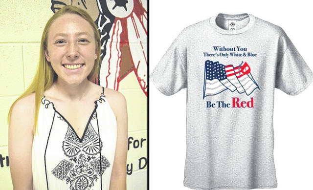 Provided photo Aliya Stine, who is from Troy and is a Newton High School graduate, designed the t-shirt that high school donors will wear this spring semester at all CBC high school blood drives.
